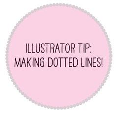Illustrator Tip 01: Dotted Lines | LexyLevin