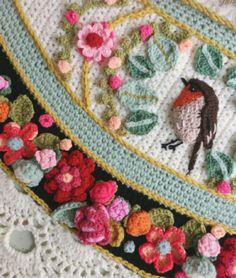 Crochet Mandala Pattern, Freeform Crochet, Crochet Chart, Bead Crochet, Crochet Stitches, Crochet Patterns, Manta Crochet, Crochet Scarves, Crochet Designs