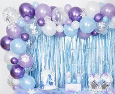 High Quality Frozen Balloon Arch with Confetti Balloons, Frozen Balloon Garland, Frozen birthday party, Frozen party decorations, Frozen 2 - Dekoration Ideen Frozen Birthday Party, Frozen Theme Party, 2nd Birthday Parties, 4th Birthday, Carnival Birthday, Birthday Ideas, Frozen Party Backdrop, Disney Frozen Party, Turtle Birthday