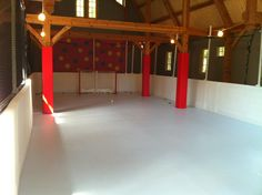 ProWall Boards And Synthetic Ice In A Barn.