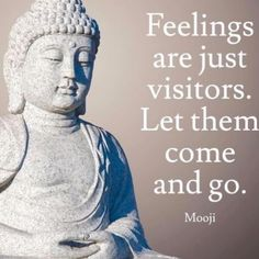 Feelings are just visitors. Let them come and go. / quotes / inspiration/ yoga / feelings