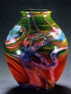 Louis Comfort Tiffany Vase, c. 1900 by Jeannelyn Louis Comfort Tiffany, Glass Ceramic, Mosaic Glass, Fused Glass, Glass Vase, Blown Glass, Tiffany Kunst, Tiffany Art, Tiffany Stained Glass