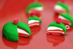 little Swedish princess cakes--perfect for Christmas