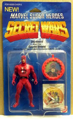 SECRET WARS DAREDEVIL The funny thing is that Daredevil, Iceman, Falcon, Baron Zemo and Hobgoblin was not even in the comic series but they got to be figures anyway in place of a lot of others like Hulk, Thor, Thing, Cyclops, Nightcrawler,Spider-woman,and so on..