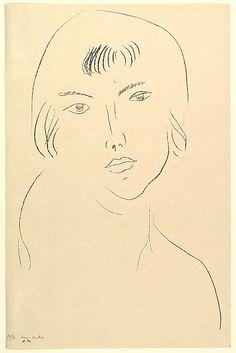 Henri Matisse - Head of a Girl, 1913