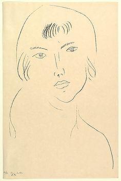 "Henri Matisse ""Head of a Girl"" 1913 Lithograph"