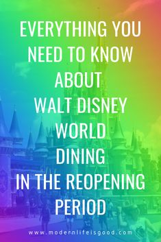 Walt Disney World will shortly be starting a phased reopening. As part of the reopening plan, there are some significant changes to Walt Disney World Dining arrangements. We run through all the changes you need to be aware of before you visit.