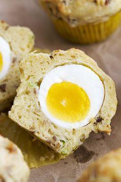Breakfast Egg and Cheese Muffins | girlversusdough.com @girlversusdough