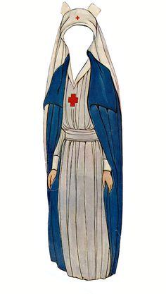 Grace Drayton paper dolls - red cross nurse, 1918