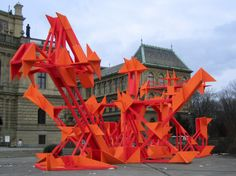 Jan Kalab's 2004 Sculpture ,  Location: Jan Palach Square,Prague CZ. Extra Large Illegal Sculpture
