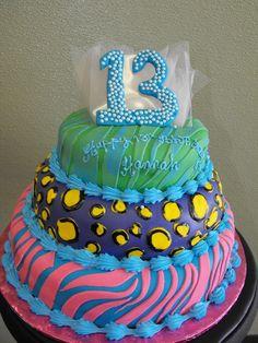 Animal Print 13th Birthday Cake    Cakes by Brenda