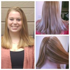 Before and after of this beautiful girls hair.