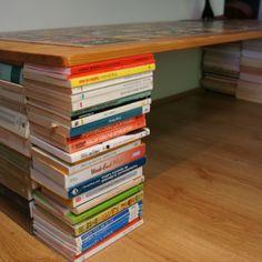 Taula feta amb llibres que no saps on posar - Gâgamo
