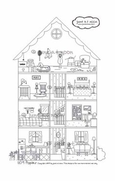 Toy Doll House Pages Coloring Pages