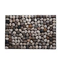 """Contemporary pebbled flooring creates an instant spa by bringing nature inside. Each piece is created by hand using real river rocks, washed and polished. Use one for a bath mat, multiples to cover entire floor. Works wonders in modern outdoor settings, too, especially on your patio or as balcony flooring. Now even renters can """"hardscape"""" No two are alike."""