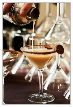 Reeses Peanut Butter Cup Martini.  This is the original recipe, but there are some other's on the web that sound good too