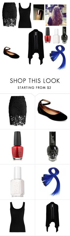 """I can't hide the darkness XD"" by sammybvbkandp ❤ liked on Polyvore featuring Chicwish, Steve Madden, OPI, Essie, Twenty and Rick Owens"