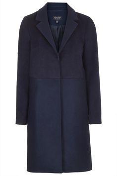 Wool Blend Contrast Hybrid Coat - Jackets & Coats - Clothing - Topshop