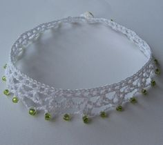 PDF pattern Easy Beaded crochet choker by kayclairgoodies on Etsy
