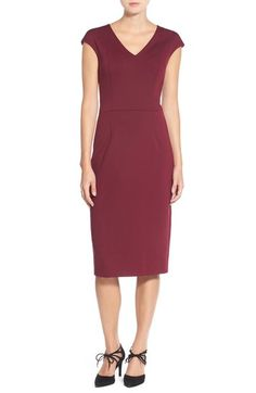 Maggy London Scuba Midi Dress