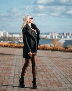 In Pantyhose, Black Ankle Boots, Goth, Hipster, Punk, Style, Fashion, Gothic, Swag