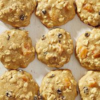 BHG's Newest Recipes:Fruity Oatmeal Cookies Recipe - Low-fat yogurt turns ordinary oatmeal cookies into ultra-fluffy confections. Give your cookies some fruity burst by adding apricots and dried currants to the dough.