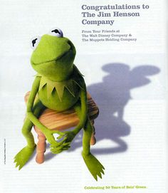 Love Kermit, miss Jim Henson