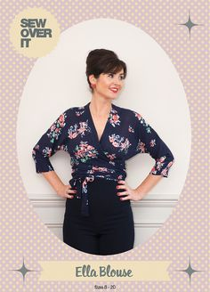 Brand new Ella Blouse pattern | a gorgeous wrap top from Sew Over It