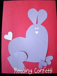 Create animal shapes with hearts for Valentine's Day! via Reading Confetti
