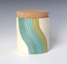 ceramic jar with cork