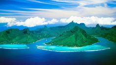 """Aerial of Cook¥s Bay opunohu bay Moorea Island. French Polynesia""   #SunKuWriter Free Books http://sunkuwriter.com"