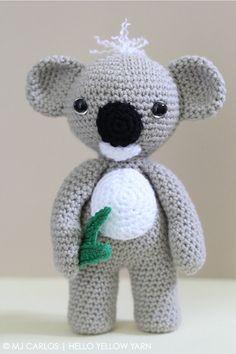 Crochet Amigurumi Koala PATTERN ONLY KC Koala Cute Amigurumi