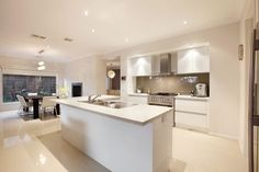 A magnificent open plan kitchen with butlers pantry