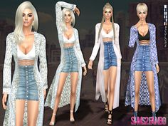 .:187 - Casual outfit with coat:. Found in TSR Category 'Sims 4 Female Everyday'