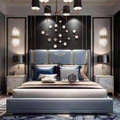 Modern Luxury Bedroom, Luxury Bedroom Design, Master Bedroom Interior, Bedroom Closet Design, Bedroom Furniture Design, Luxurious Bedrooms, Luxury Bedrooms, Stylish Bedroom, Contemporary Bedroom