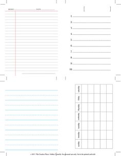 Free Printables for Scrapbooking - journaling cards