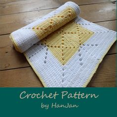 PDF Crochet Pattern: Lemon and White Criss Cross Baby Blanket, easy UK instructions with HanJan crochet tutorial. via Etsy. Crochet Chart, Crochet Basics, Love Crochet, Learn To Crochet, Crochet Stitches, Crochet Patterns, Crochet Afghans, Crochet Rugs, Baby Afghans