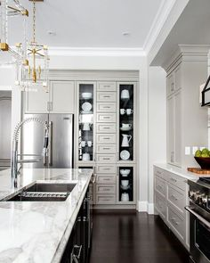 37 Top Kitchen Trends Design Ideas and Images for 2019 Part kitchen ideas; Home Design, Küchen Design, Interior Design, Design Ideas, Kitchen Tops, New Kitchen, Kitchen Shelves, Kitchen White, Kitchen Sink