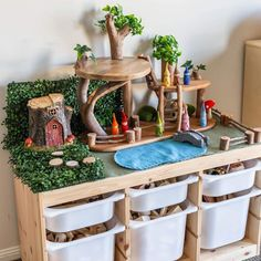 DIY Tree House for Small World Play - Little Lifelong Learners - DIY Tree House for Small World Play – Little Lifelong Learners DIY Tree House for Small World Play – Little Lifelong Learners Small World Play, Diy Toys, Toddler Activities, Toddler Sensory Bins, Kids Playing, Wooden Toys, Crafts For Kids, Decoration, Mystery Walker