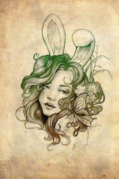 Art Nouveau Bunny by Peter Brockhammer