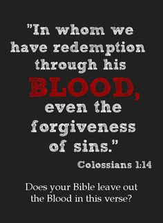The blood of Christ stands not simply for the sting of sin on God ...