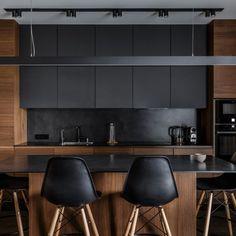 New kitchen remodel plans interior design Ideas One Wall Kitchen, Kitchen Room Design, Modern Kitchen Design, Home Decor Kitchen, Interior Design Kitchen, New Kitchen, Home Kitchens, Modern Bar, Loft Kitchen