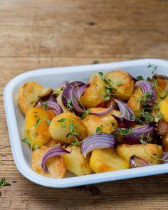 Crispy Roast Potatoes   recipes using hillfarm rapeseed oil Perfect Roast Potatoes, Crispy Roast Potatoes, Roasted Potatoes, Smoked Potatoes, Bubble And Squeak, Roasted Potato Recipes, Rapeseed Oil, Potato Sides, Sunday Roast