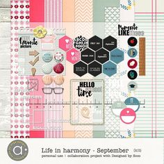 Life In Harmony - September {Kit}  | Ange Designs and Designed by Soco  | 11/09 - New Release :: Memory Scraps