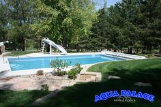 Vinyl Liner Pool With Custom Grotto Aqua Palace 810