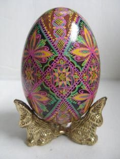 Goose Egg  Pysanka ukrainian Easter egg by UkrainianEasterEggs, $69.95