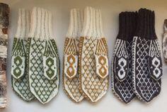 Vottemønster,Sokkemønster ,mønster til pannebånd og mini Selbu 🐑🇳🇴 | FINN.no Mittens, Knitting Patterns, Gloves, Monogram, Socks, Winter, Mini, Fashion, Threading