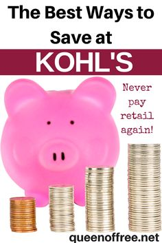 Check out this great post with the best ways to save money at Kohl's. Never pay full price again, make the most of each purchase, and kill it with coupons.