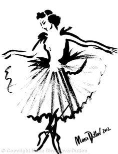 Ballerina+-+Ink+on+paper