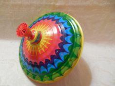 Vintage German Tin Big Spinning Top Lorenz Bolz Zirndorf Rainbow Retro Old Toy   eBay